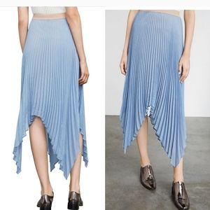 Rumi Asymmetric Pleated Skirt | BCBG